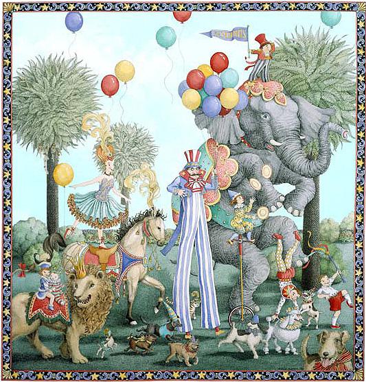 С днем рождения открытки цирк, отдыхайте все