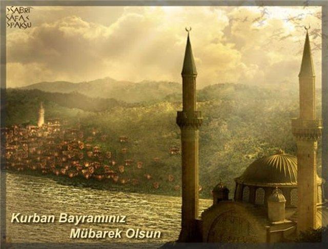 Первоклашкам, открытки с курбан байрам на турецком языке