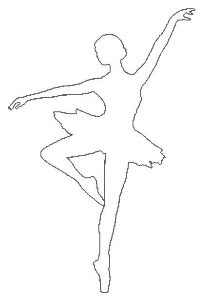 образец снежинок балеринок