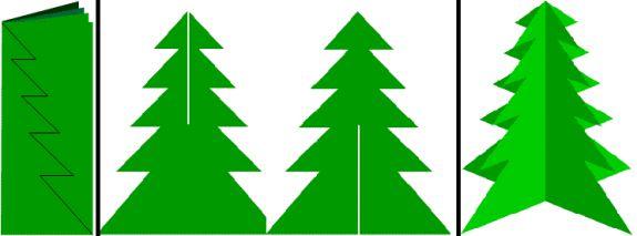 Объемная елка из бумаги своими руками шаблон
