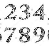 Трафареты и шаблоны цифр распечатать скачать, бесплатно