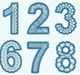 Трафареты и шаблоны цифр для вырезания