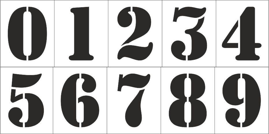 Шаблоны цифр красивые скачать бесплатно