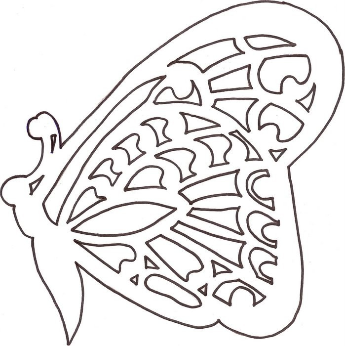 Открытка бабочка вырезать