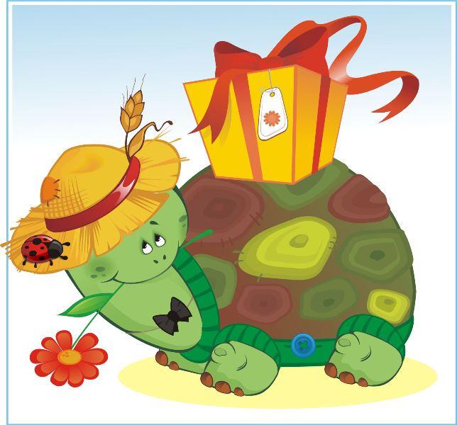 Видом окна, картинка с днем рождения черепаха