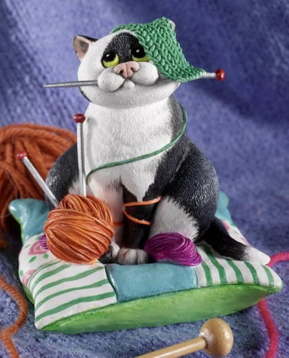 Открытки к дню вязания