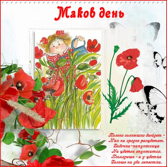 День сельского, открытка с маками видео
