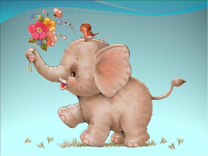 Марта картинка, день слона открытка