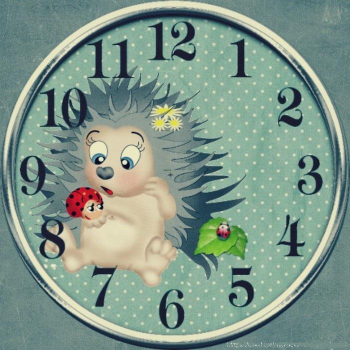Часы для детей картинки без стрелок